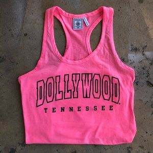 Hot Pink DOLLYWOOD Tennessee Muscle Tank Top
